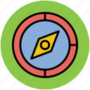 cardinal points, compass, gps, navigational, navigational arrow, travel, traveling guide icon