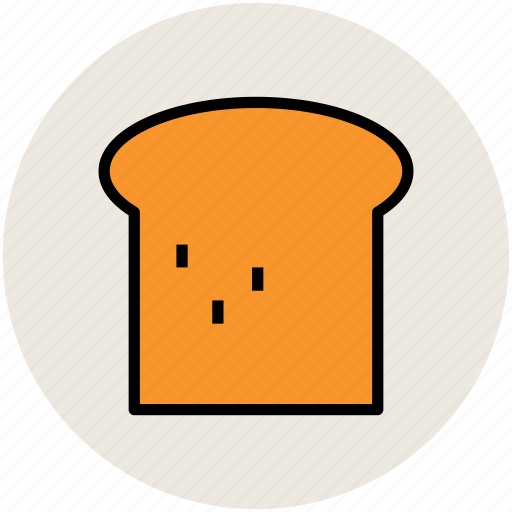 bakery food, bread, bread slice, breakfast, food, toast icon