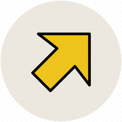 arrow, arrow pointing, directional, pointing, up right icon