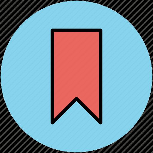 banner, bookmark, bookmark ribbon, label, tag icon