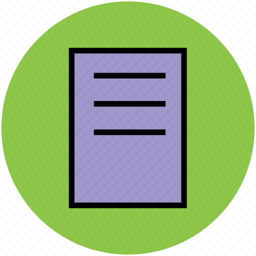 document, file, note, sheet, text sheet icon
