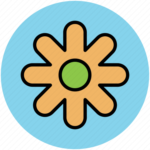 beauty, creative flower, creative shape, flower, nature icon