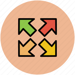 arrow, enlarge, expand, extend, increase, increase size icon