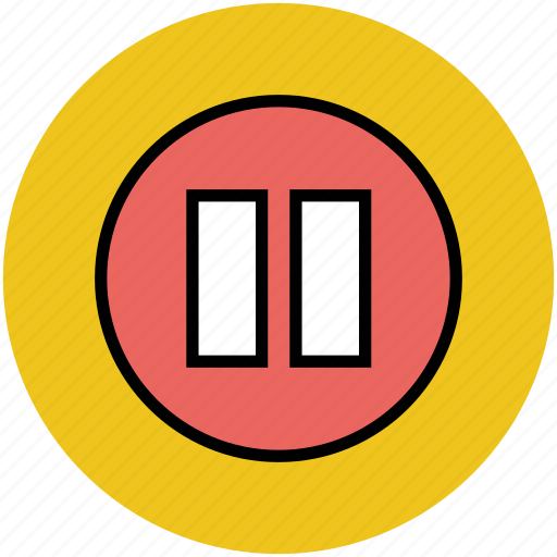 button, media button, media pause, media player, pause icon