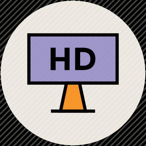 broadcasting, display, hd screen, hd tv, screen icon