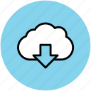 cloud computing concept, cloud download, cloud downloading, download, downloading icon