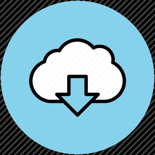 cloud computing concept, cloud download, cloud downloading, download, downloading icon