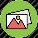 images, landscape, photographs, photos, pictures, snaps icon