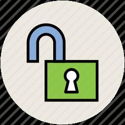 lock, padlock, password, safety concept, unlock icon