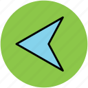 arrow, back, cursor, guide mark, left, left arrow, navigational arrow icon