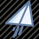 launch, paperplane, rocket, upload icon