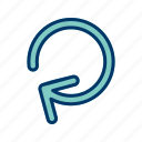 renew, repeat, rotation icon