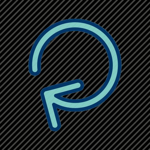 renew, repeat, rotation icon