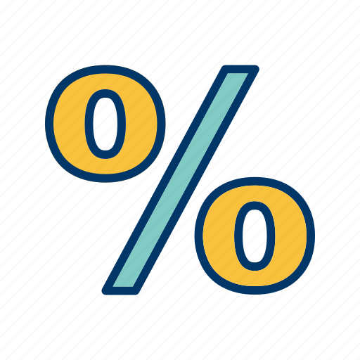 %, basic element, discount, percent, percentage icon