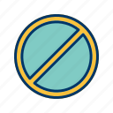 forbidden, prohibited, warning icon