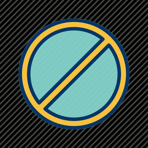 basic element, danger, forbidden icon
