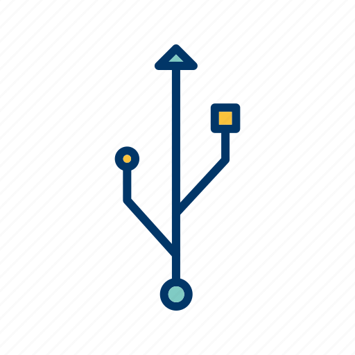 connection, data cable, network, wire icon