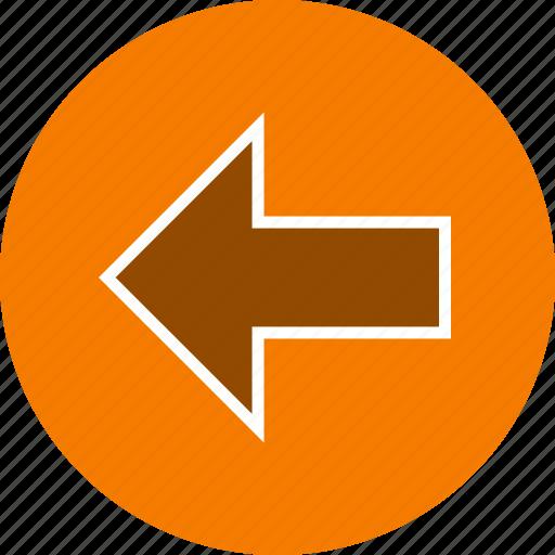 arrow, back, basic element, direction, left icon