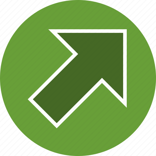 arrow, basic element, direction, navigation, right up icon