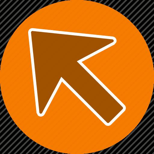 arrow, basic element, cursor, direction, left up icon