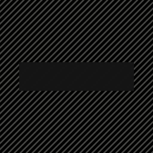 minimize, minus, subtract icon