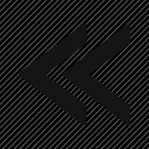 back, previous, rewind icon