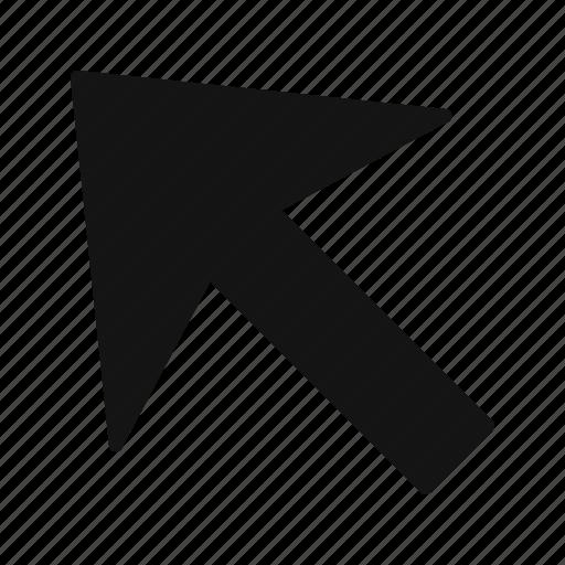 arrow, cursor, left up icon