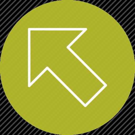 arrow, basic element, direction, left up, navigation icon