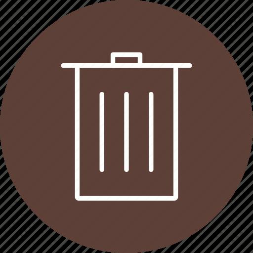 basic element, delete, recycle bin icon
