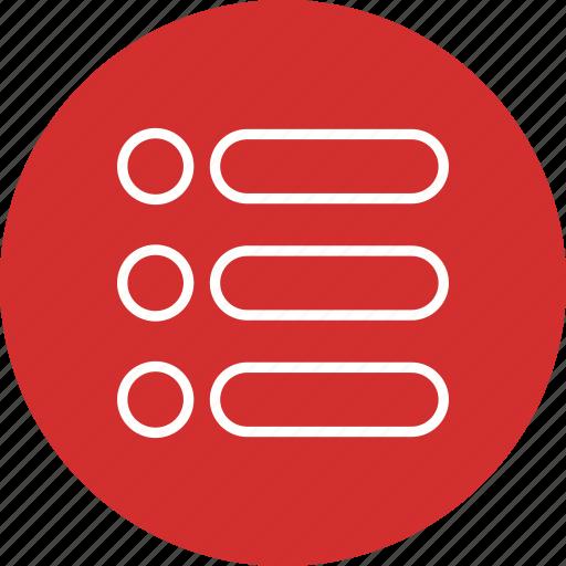basic element, checklist, list, menu, options icon