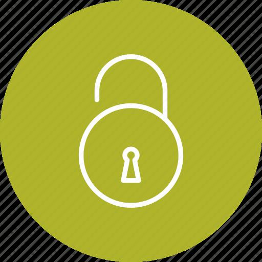 acess, lock, open, unlock icon