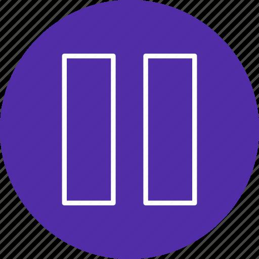 multimedia, pause, stop icon