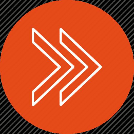 arrow, arrows, basic element, forward, next icon