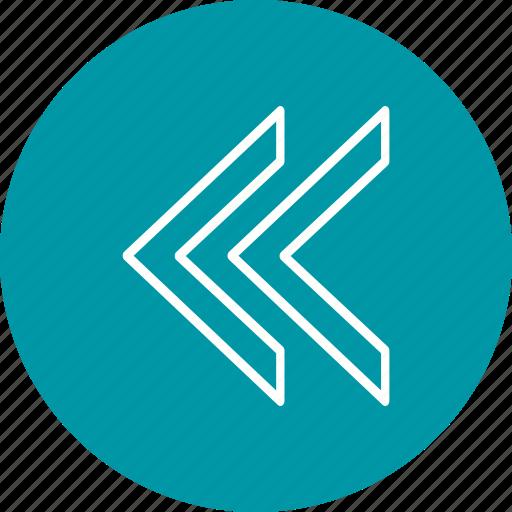arrow, back, basic element icon