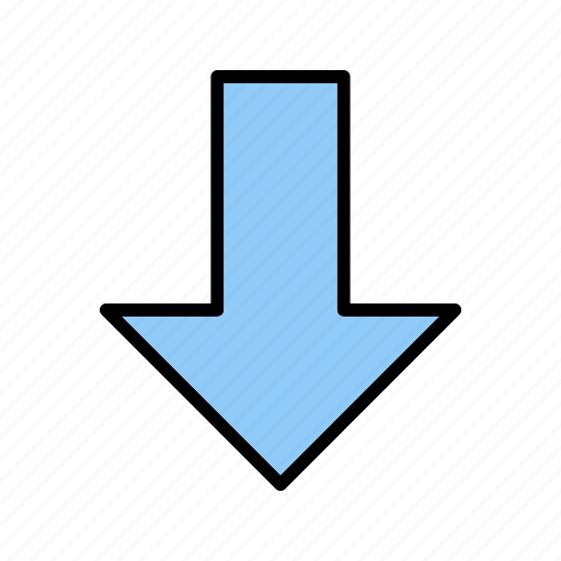 arrow, basic element, down, download, navigation icon