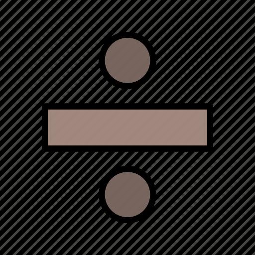 divide, divider, split icon