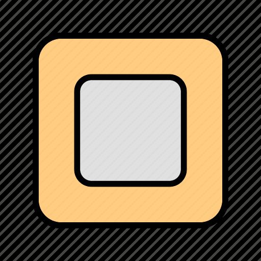 multimedia, music, stop icon