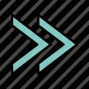arrows, forward, move, next, right icon