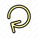 reload, renew, repeat, rotate, rotation icon