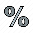 %, basic element, discount icon