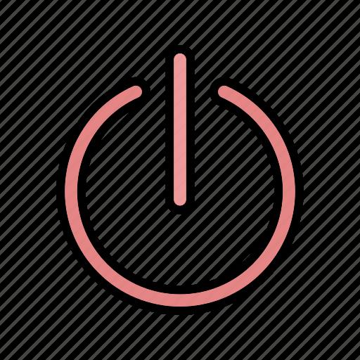 basic element, off, power, power off, shut down icon