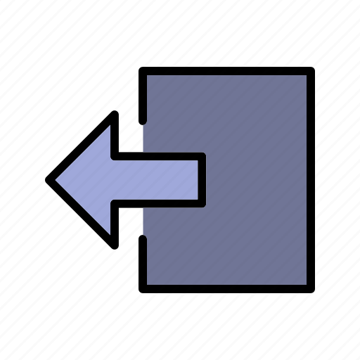 log out, shut down, sign out icon