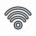 antenna, modem, signal, wifi, wireless icon