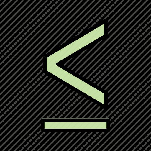 basic element, less, less then, math, maths icon