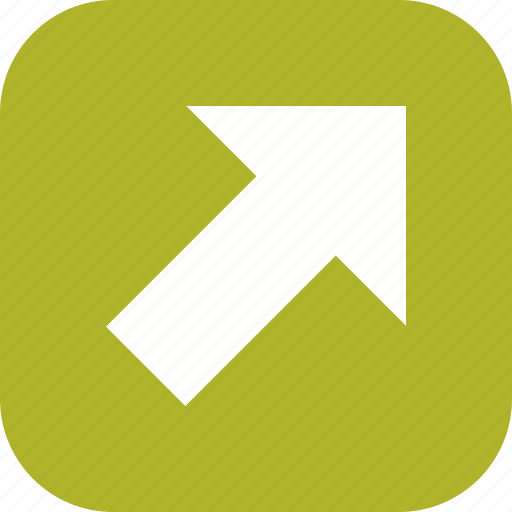 arrow, direction, navigation, right up icon