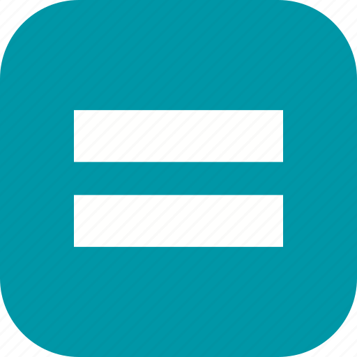 equal to, is equals to, mathematics icon