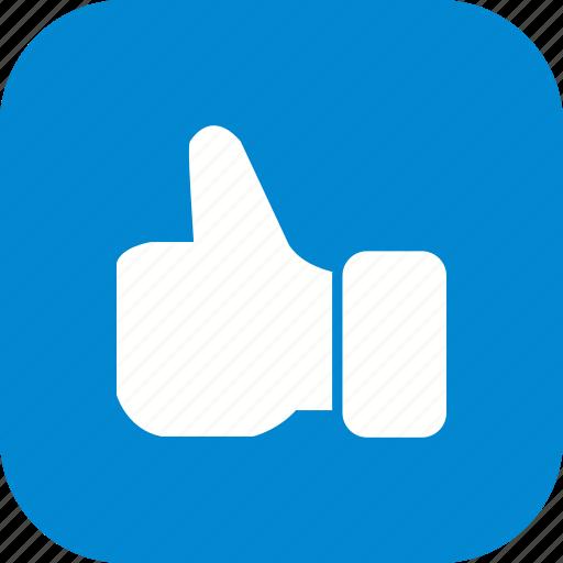 hand, like, thumbs up icon