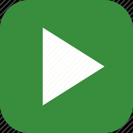 go, multimedia, play icon
