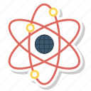atom, color, molecule, physics, quantum, science icon