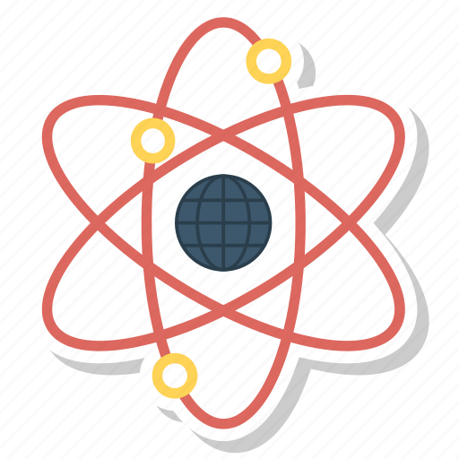 atom, color, molecule, physics, quantum, science icon